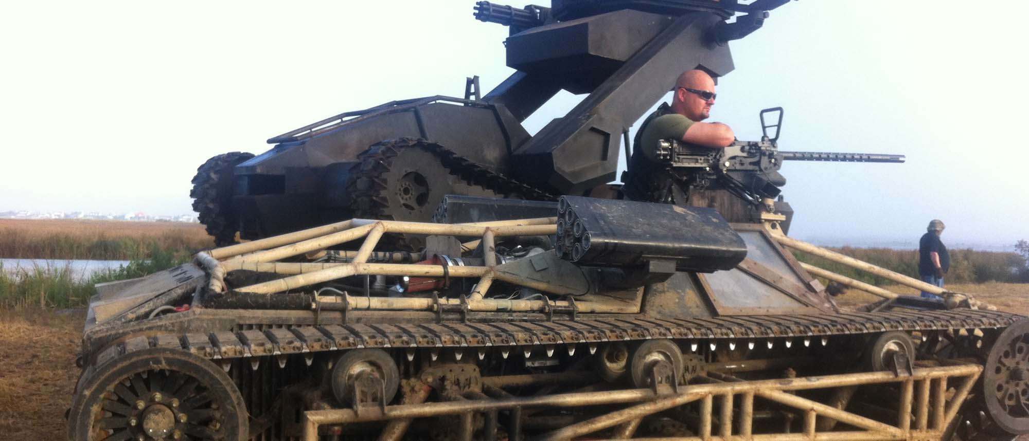 Man in a tank