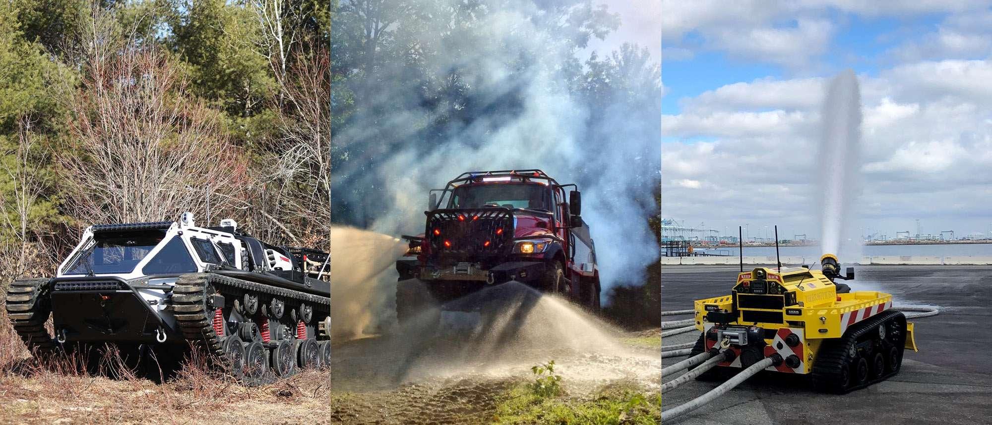 Civil vehicles collage